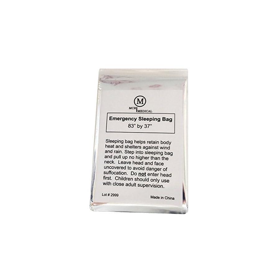 Pack of Emergency Sleeping Bags, Thermal Reflective Survival Bags, MCR Medical