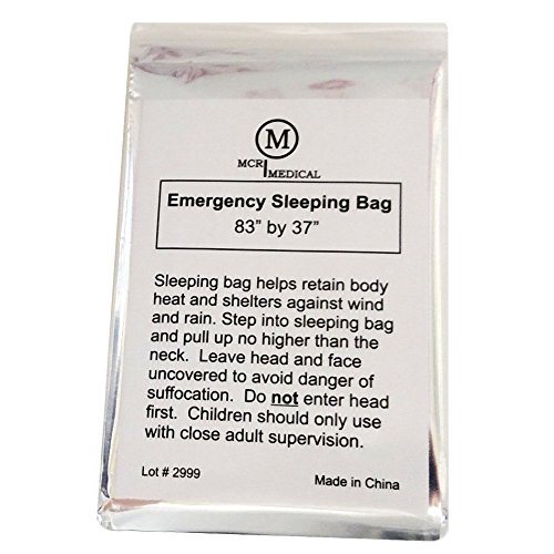 Pack of Emergency Sleeping Bags, Thermal Reflective Survival Bags, MCR Medical