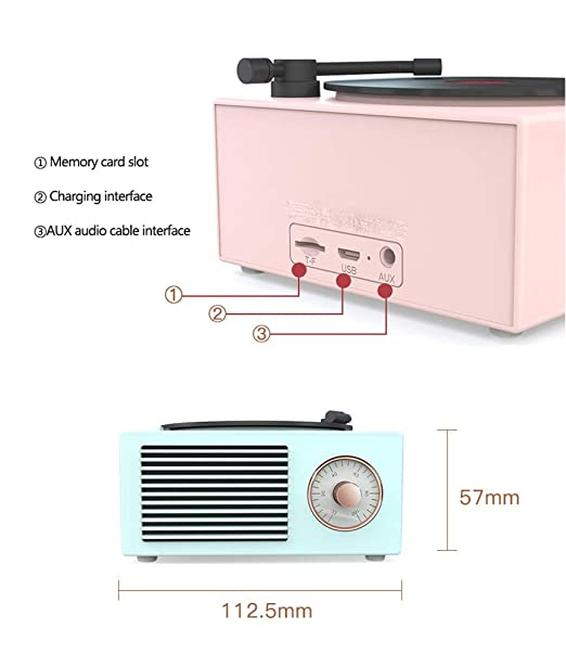 No Orador Creativo,Bluetooth 5.0,Tocadiscos Retro Audio nórdico ...