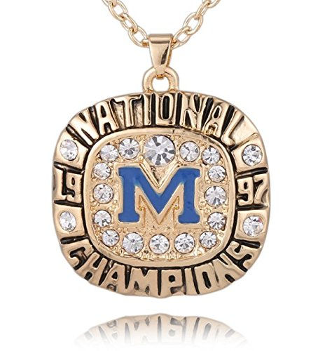 Michigan-Wolverines-1997-Rose-Bowl-Championship-Necklace-Pendant-Charm-Chain-Jewelry-Unisex-Brian-Griese-Tom-Brady-Charles-Woodson-Shipped-from-USA