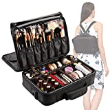 VASKER 3 Layers Waterproof Makeup Bag Travel Cosmetic Case Brush Holder with Adjustable Divider VA-06