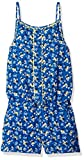 Scout + Ro Big Girls' Romper Scallop Detail, Strong Blue, 7
