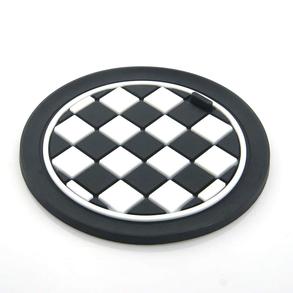 Heinmo Car Cup Coaster Mats For mini cooper clubman countryman F/R series universal car-styling(6.5cm)