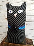 12'' Tall Ragamuffin Ugly Sweater Handmade Kitty Cat Art Doll Stuffed Animal Cat Lovers Gift