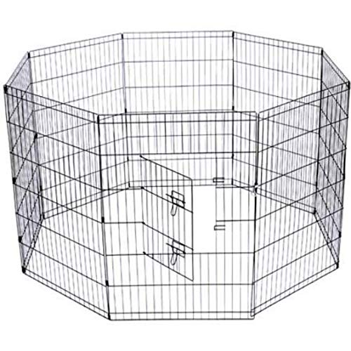 8 Panel Pet Playpen Extra Large Exercise Pen Heavy Duty 36inch Door Big Dog Large Pet 8 Panels Kennel Playpen.
