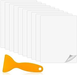 Magicfour Vinyl Siding Repair Kit, Vinyl Siding Patch, 10 Pack PVC Self-Adhesive Vinyl Siding Repair Patches Vinyl Siding Repair Stickers for Covering Cracks Holes Blemishes on Vinyl Siding Fence