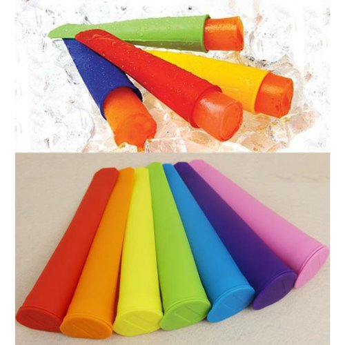Silicone Push Up Ice Cream Jelly Lolly Pop Maker Popsicle Mold Tray - Color Random chinabuye