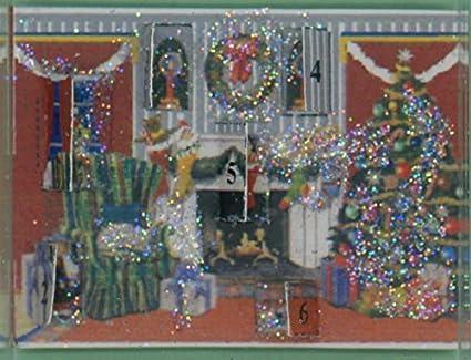 dollhouse miniature christmas night - Dollhouse Christmas Lights