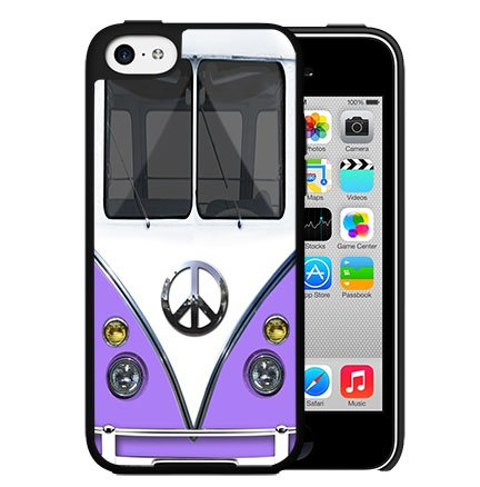 Purple Retro Hippie Mini Van Hard Snap On cell Phone Case Cover iPhone 5c