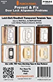 Punch Point P158LD-6 Transparent Template Tape-Latch/Deadbolt-6ea.