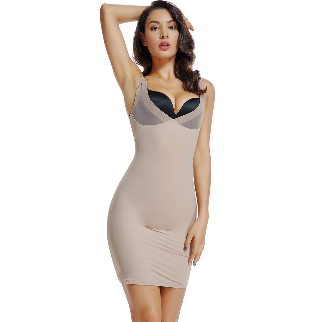 9a0109cef Joyshaper Control Dress Slip for Women Full Slips Black Beige Tummy Control  Shaping Bodycon Under Dress Skirt Slimming Camisole Seamless Underwear  Shapewear