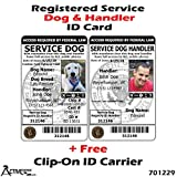 Activedogs Registered Service Dog & Handler ID Card + Clip-On ID Carrier