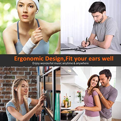 Wireless Earbuds Air Podswireless Bluetooth 5.0 Headphones with Fast Charging Case Noise Cancelling in Ear Ear Buds with Deep Bass Earbuds for iPhone/Android/Samsung Airpods Pro Apple Earpods