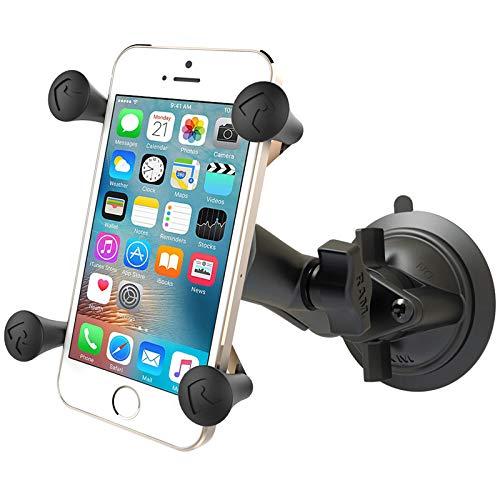 Ram Mount Twist Lock Suction Cup Mount with Universal X-Grip Cell Phone Holder, Black, RAM-B-166-UN7U by RAM