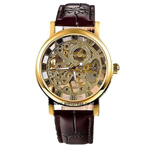 GuTe Steampunk Hand wind Mechanical Wristwatch