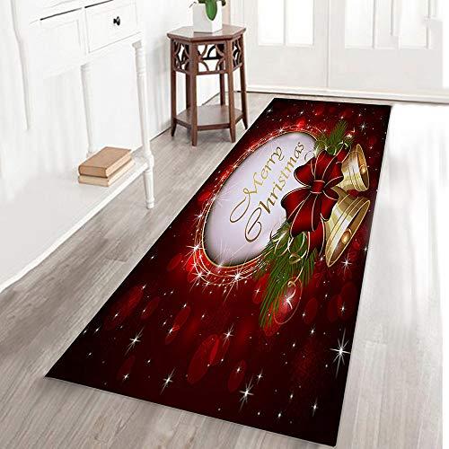 Clearance!! Christmas Non-Slip Carpet, Yezijin Merry Christmas Welcome Doormats Indoor Home Carpets Decor 40x120CM (D)