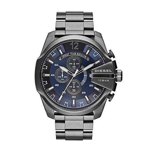 Diesel - DZ4329 - Montre Homme - Quartz Chronographe - Cadran Bleu - Bracelet Acier Inoxydable Gris