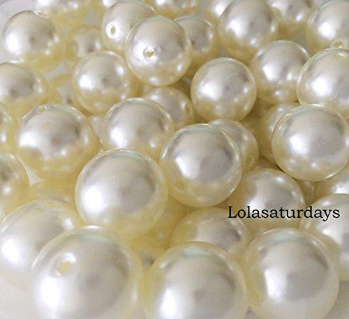 Lolasaturdays Pearls 1-Lbs Loose Beads vase Filler (18mm, Ivory)