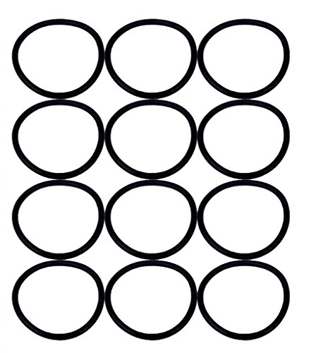 Eureka SAN-GENBELT (12 Pack) Vacuum Cleaner Rubber Brush Roll Belt, Black # E-30563-12pk (Fantom Vacuum Cleaner Parts)