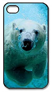 Polar Bear Protective Hard Plastic Back Fits Cover Case for iphone 4 iphone 4s -1122082
