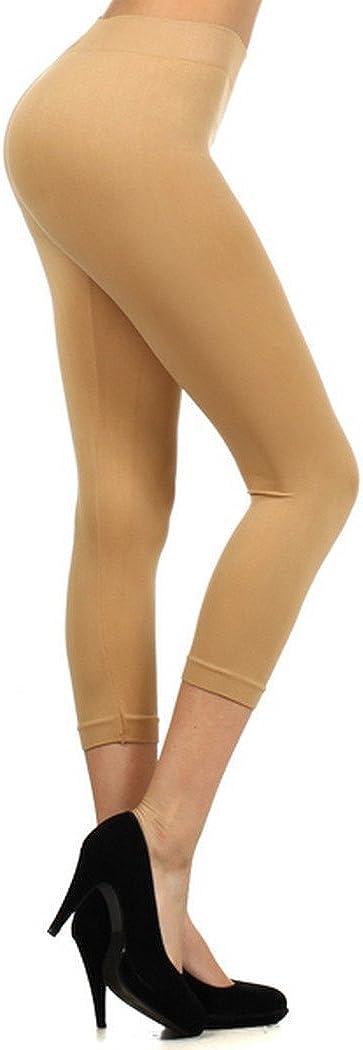 Yelete Womens Capri Seamless Leggings SML826SD