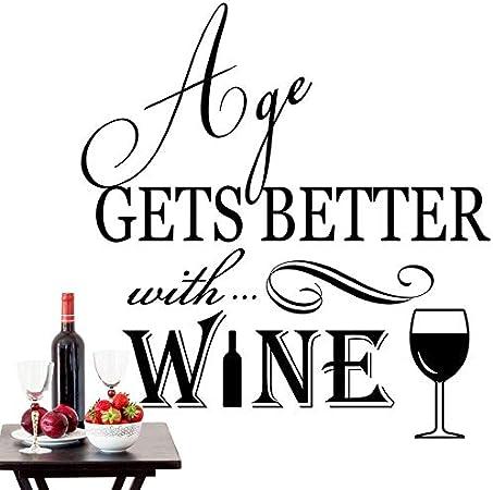 Life Happens Wine Helps vinyl wall art sticker saying decor home kitchen glass