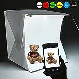 Portable Photo Studio Box, Elegant Choise Photography Studio Shooting Tent Mini Folding Table Top LED Light Box Kit with 6 Backdrops Kit