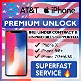 Unlock Service ATT iPhone X, 8, 8 Plus, 7, 7 Plus, 6s, 6s Plus, SE, 6, 6 Plus Models - Make Your Device More Useful - Choose Any Carrier at Your Own - No Re-lock Lifetime Guarantee