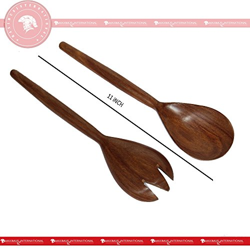 Acacia Oblong wooden Salad Spoon for kitechen Servers, Size :11