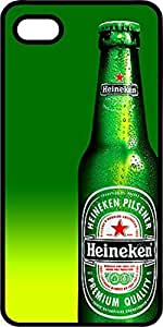 Heinekin Beer Bottle Black Rubber Case for Apple iPhone 5 or iPhone 5s