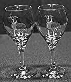 American Staffordshire Terrier Pit Bull Dog Laser Etched Wine Glass Set (2, TDW)