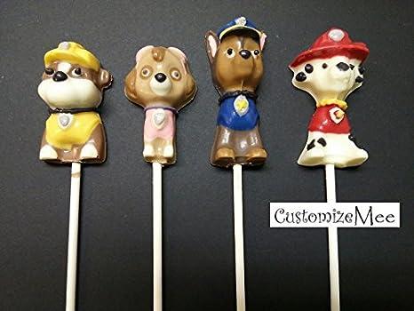 Amazon.com: Paw Patrol Dogs Chocolate Candy Lollipop Mold Paw Print: Kitchen & Dining