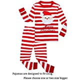 Family Feeling Big Boys Girls' Santa Claus Christmas Cotton Long Sleeve Pajama Set Pjs 12