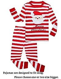 Little Boys Girls' Red Stripe Christmas Pjs Cotton Pajama...