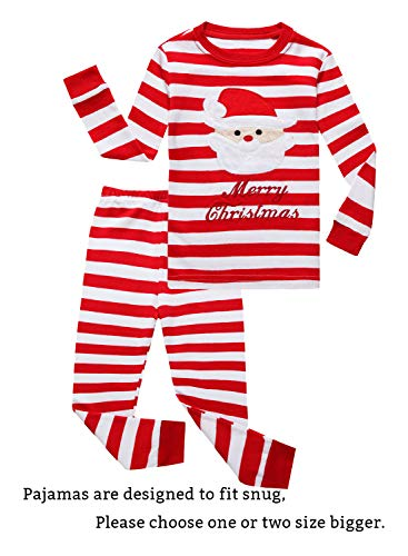Family Feeling Little Boys Girls' Santa Claus Christmas Cotton Long Sleeve Pajama Set Pjs 3T for $<!--$15.99-->