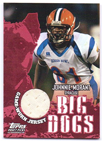 Johnnie Morant 2004 Topps Draft Picks & Prospects Big Dogs Authentic Senior Bowl Game Worn Jersey Rookie #BD-JM - Oakland Raiders ()