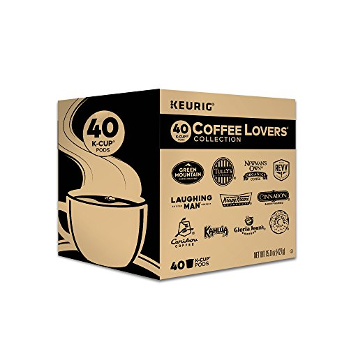 Keurig Coffee Lovers' Collection Variety Pack, Single-Serve Coffee Okay-Cup Pods Sampler, 40 Count