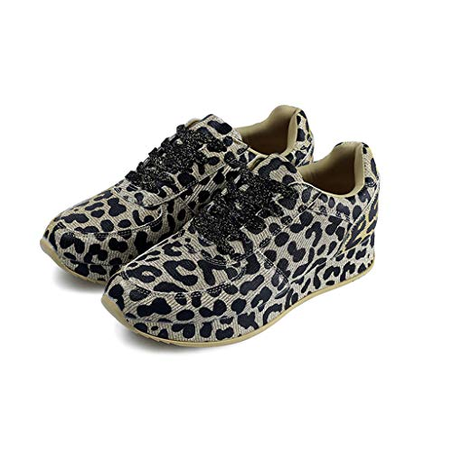 Cheetah Sneakers for Women の Leopard Print Running Shoes Casual Slip On Walking Flats 2019 Fall-Winter Starry Series Gold
