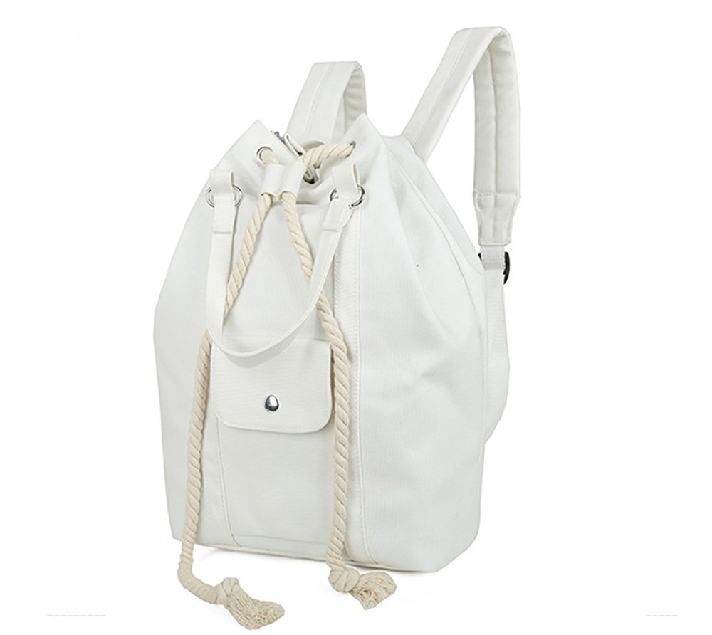 Mfeo Heavy Cotton Beam Safety Rope Canvas Backpack Schoolbag Outdoor Daypacks