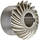 Boston Gear HLSK103YR Spiral Miter Gear, 35 Degree Spiral Angle, 1:1 Ratio, 0.750'' Bore, 10 Pitch, 20 Teeth, Steel with Hardened Teeth