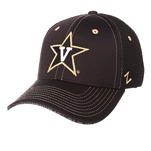 Zephyr NCAA Vanderbilt Commodores Men's Undertaker Hat, X-Large, Black