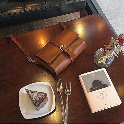 Bolsos retro lisos del sobre de la aleta de Yoome para el bolso funcional de Crossbody del hombro del encanto gótico del bolso