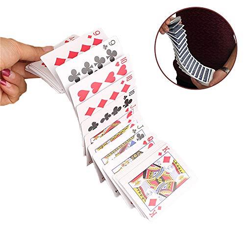 Comidox 1Set Electric Deck Magic Waterfall Card Magician Beginner Poker Card Magic Tricks Props Close-Up Street Gimmick Illusion Poker ()