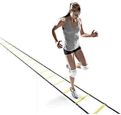 Kofferraum Ladder ágil, fijas Escalera de formación de Pace Velocidad, Baloncesto Equipo de formación, la Aptitud de Escalera, 4 Metros 8 Secciones: Amazon.es: Hogar
