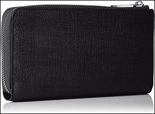 Texturized Exchange Armani Wallet Zip Texturized Wallet Black womens Nero Round Zip Round AwqdYHw