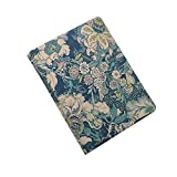 iCarryAlls Floral Pattern Organizing Folio Case, Pad Portfolio with Spring Clip,Holds 8.5 x 11-inch Papers,Blue