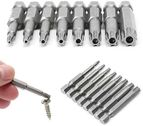 Rongzou Schraubendreher-Bits - 8 Teile/Satz 1/4 Zoll 50mm T8-T40 Magnet Torx Elektrosatz