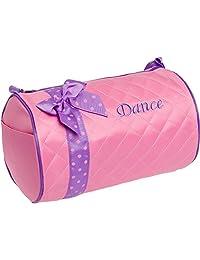 Plata Lilly las niñas Danza Bag–Bolsa acolchada de Duffle W/Bow