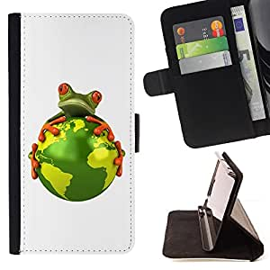 Jordan Colourful Shop - planet earth environment warming global frog For Samsung ALPHA G850 - Leather Case Absorci???¡¯???€????€??????&acir