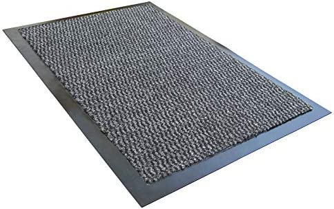 Ultralux Indoor Entrance Mat 47 x 71 Polypropylene Fibers and Anti-Slip Vinyl Backed Entry Rug Doormat Gray Home or Office Use Multiple Sizes